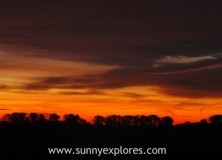 At work: sunrises in Munnikenland Holland