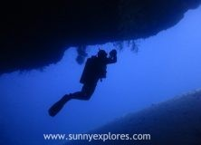 Dive sites in Dahab Egypt: Caves